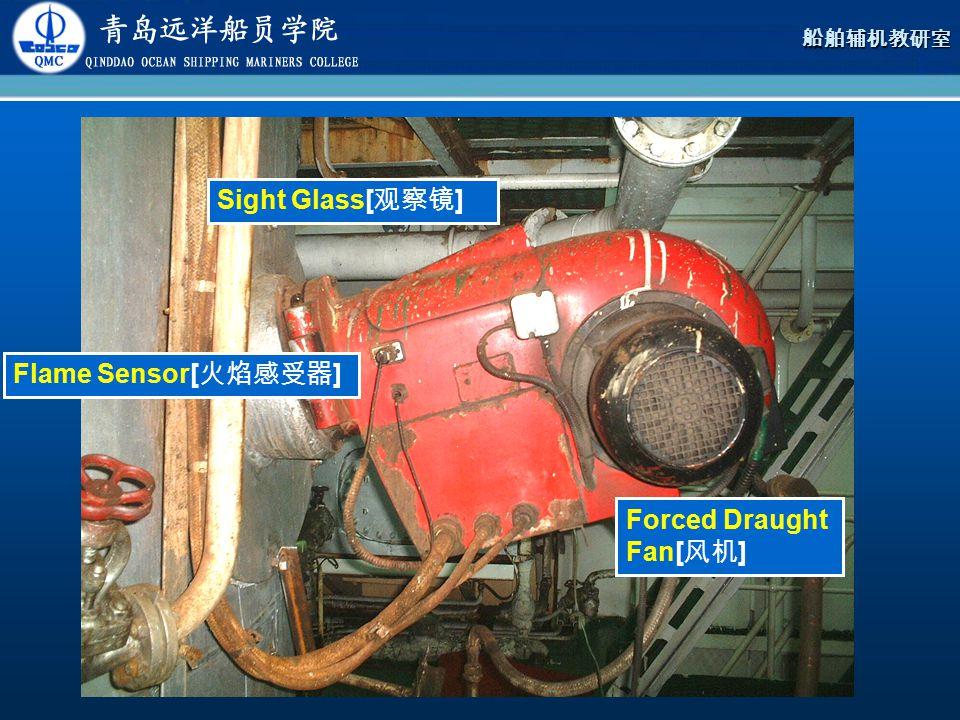 Sight Glass[观察镜] Flame Sensor[火焰感受器] Forced Draught Fan[风机]